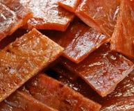 Cortado do close up espasmódico da carne de porco Fotografia de Stock Royalty Free