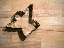 Cortador Ángel-Formado de la galleta foto de archivo libre de regalías