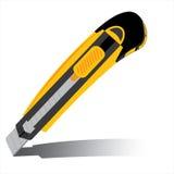 Cortador aislado en el fondo blanco Vector amarillo del cortador aislado en el fondo blanco Foto de archivo libre de regalías