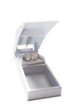 Cortador blanco de la píldora Fotografía de archivo libre de regalías