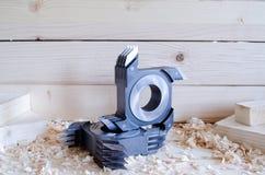 Cortador comum do dedo do CNC para o woodworking industriy fotos de stock royalty free
