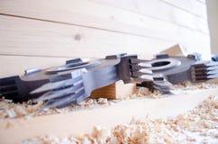 Cortador comum do dedo do CNC para o woodworking industriy imagens de stock royalty free