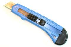 Cortador da caixa azul Fotografia de Stock Royalty Free