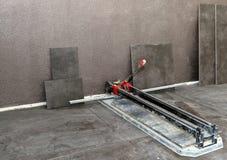 Cortador de azulejo Foto de archivo