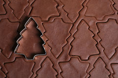 Cortador de la galleta del árbol de navidad fotos de archivo libres de regalías