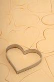 Cortador de la galleta del corazón Fotos de archivo
