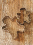 Cortador de la galleta del hombre del pan del jengibre Fotografía de archivo