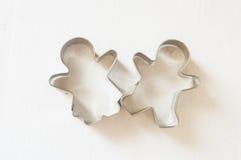 Cortador de la galleta del hombre del pan del jengibre Imágenes de archivo libres de regalías