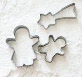 Cortador de la galleta del hombre del pan del jengibre Fotografía de archivo libre de regalías