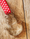 Cortador de la galleta del hombre del pan del jengibre Fotos de archivo