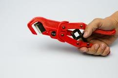 Cortador de la manguera Imagen de archivo libre de regalías