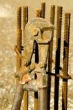 Cortador de las barras de hierro Fotos de archivo
