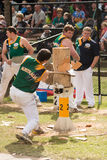 Cortador de madera australiano Blake Marsh en Adelaide Show real, septiembre de 2014 Fotos de archivo libres de regalías