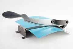 Cortador de papel de la foto vieja Foto de archivo libre de regalías