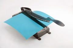 Cortador de papel de la foto vieja Imágenes de archivo libres de regalías