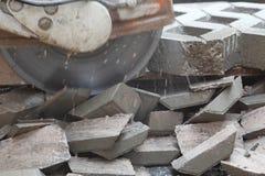 Cortador de pedra concreto Imagens de Stock Royalty Free