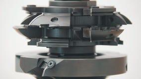 Cortador de trituração Rotated - metal industrial do corte de máquina da trituração Imagem de Stock
