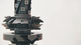 Cortador de trituração Rotated - metal industrial do corte de máquina da trituração - copie o espaço Fotos de Stock Royalty Free