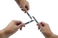 Cortador del asimiento de la mano Foto de archivo libre de regalías