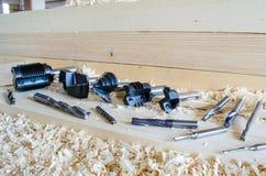 Cortador del router del CNC para la carpintería industriy imagen de archivo