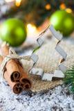 Cortador do bolinho para o Natal Fotografia de Stock