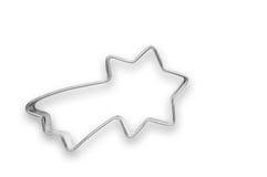 Cortador formado cometa de la galleta Imagen de archivo libre de regalías