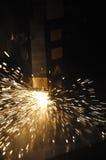 Cortador industrial del laser Foto de archivo libre de regalías