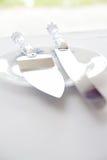 Cortador y cuchillo de la torta Foto de archivo libre de regalías