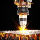 Cortadora del laser ilustración del vector