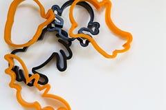 Cortadores da cookie de Dia das Bruxas Fotografia de Stock Royalty Free