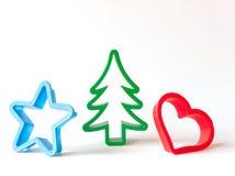 Cortadores da pastelaria do Natal Fotos de Stock