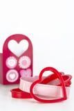 Cortadores dados forma coração da cookie Foto de Stock