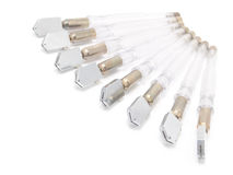 Cortadores de cristal presentados como un ventilador. Fotografía de archivo libre de regalías