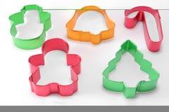 Cortadores de la galleta foto de archivo libre de regalías
