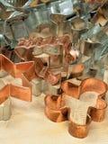 Cortadores de la galleta Foto de archivo