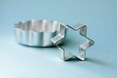 Cortadores de la galleta del metal Fotografía de archivo libre de regalías