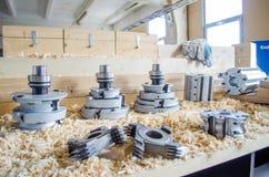 Cortadores do CNC para a indústria do woodworking imagem de stock royalty free