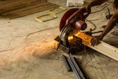 Cortadores e técnicos de aço em Ásia Fotografia de Stock