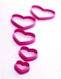 Cortadores en forma de corazón de la galleta - diseño gráfico Imágenes de archivo libres de regalías