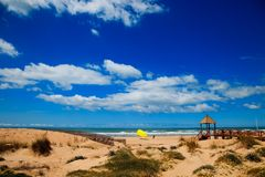 Cortadura's Beach - Cadiz Stock Photo