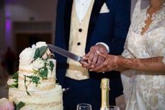 Cortando o bolo Fotos de Stock