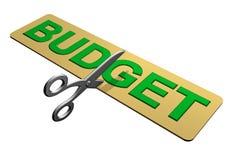 Cortando o orçamento Fotografia de Stock Royalty Free