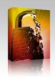 Cortando o pacote da caixa da segurança do desvio Fotografia de Stock Royalty Free