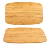 Cortando a placa de madeira isolada Imagens de Stock Royalty Free