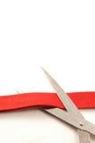 Cortar la cinta roja Foto de archivo libre de regalías