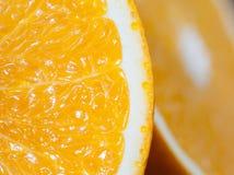 Cortar la naranja Fotos de archivo