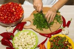 Cortar la pimienta de chile rojo Imagen de archivo libre de regalías