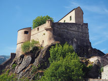 Corte老城堡, Corse,法国 免版税库存图片