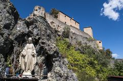 Corte,城堡,栖息,可西嘉岛, Corse,盖帽Corse,上部Corse,法国,欧洲 库存图片