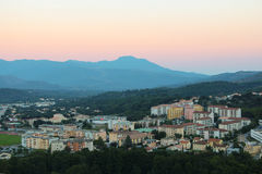 Corte, Corse,法国 免版税库存图片